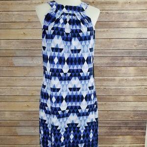 Nwt Vince Camuto Blue & Black Sleeveless Dress
